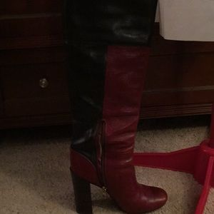Designer Tory Burch Two Tone Boots, lightly worn